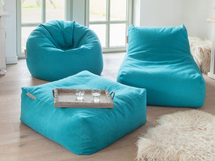 Pushbag Sitzsack Set Chair Easy in blau