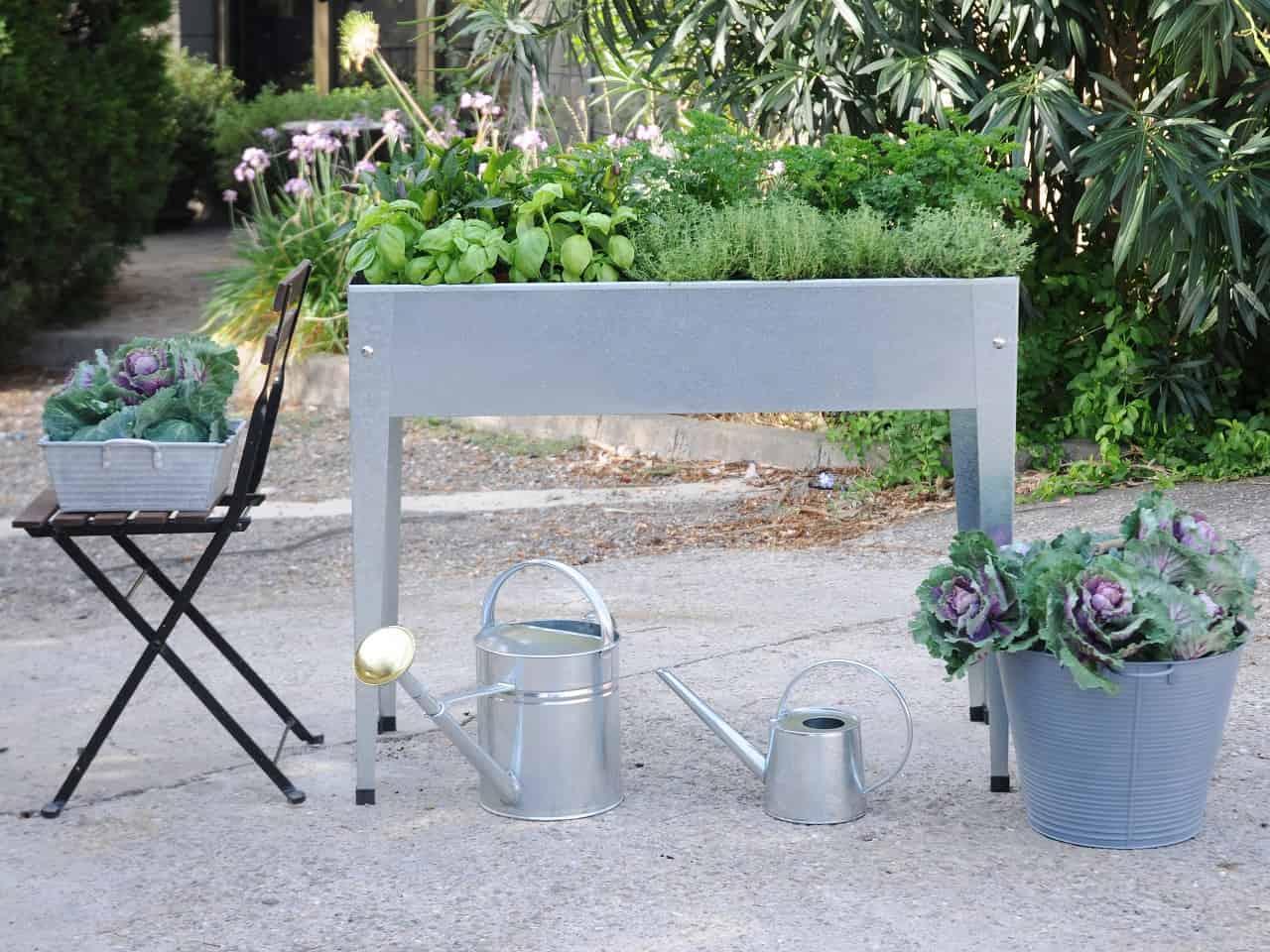 Herster Garden Hochbeet Urban Silber