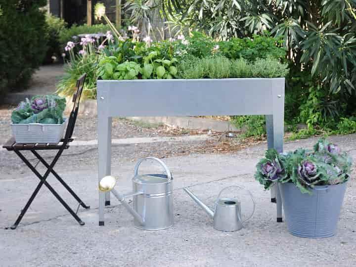 Herstera Garden Hochbeet Urban Silber