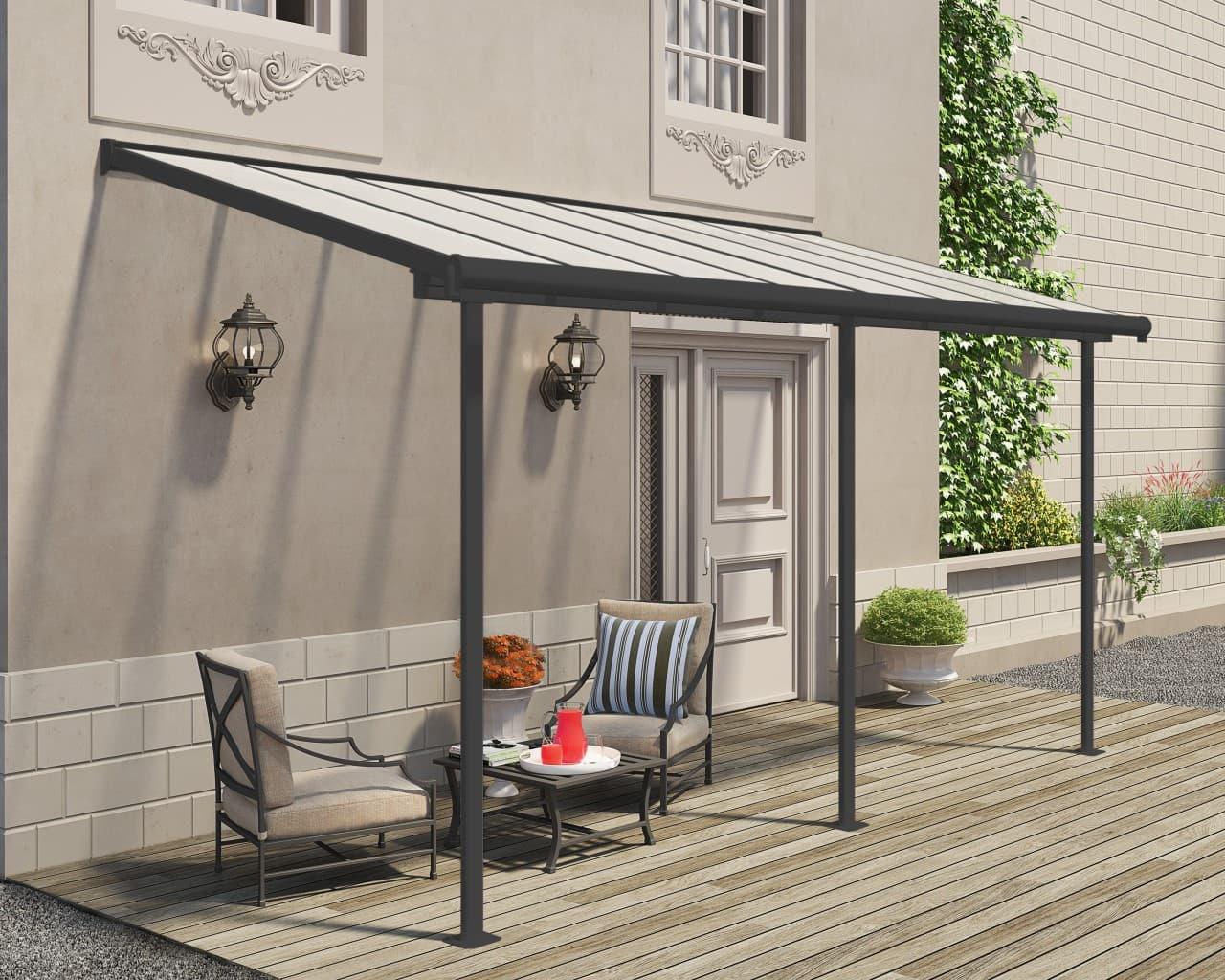 Terrassenüberdachung mit Wandbefestigung