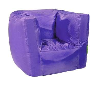 Pushbag Sitzsack Cube purple