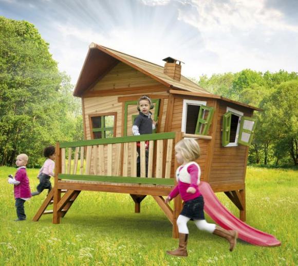 Axi Kinderspielhaus Emma inkl. Veranda & Rutsche
