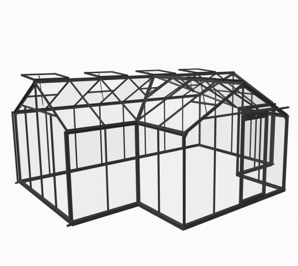 ACD Aluminium Glas Gewächshaus/Orangerie Sophie