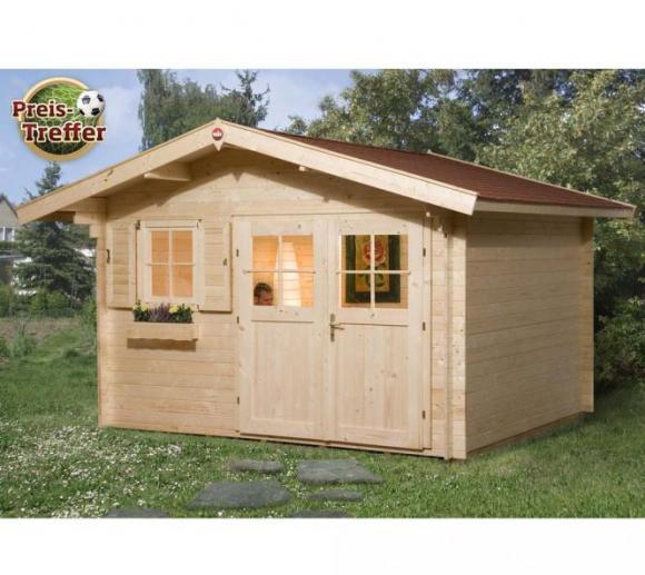 Weka Gartenhaus 109 Premium natur, 28mm, 420x320 cm
