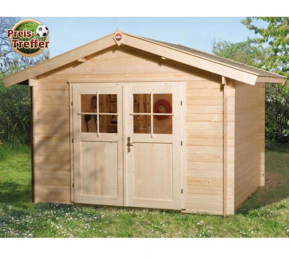 Weka Gartenhaus 112 Premium natur, 28mm, 380x230 cm