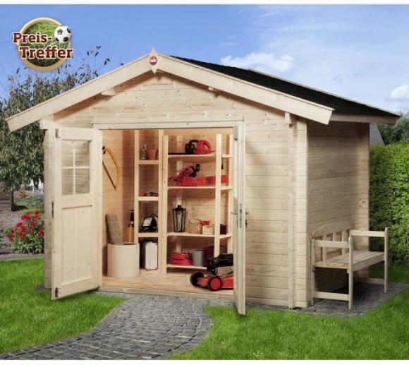 Weka Gartenhaus 132 Premium natur, 45mm, 300x280 cm