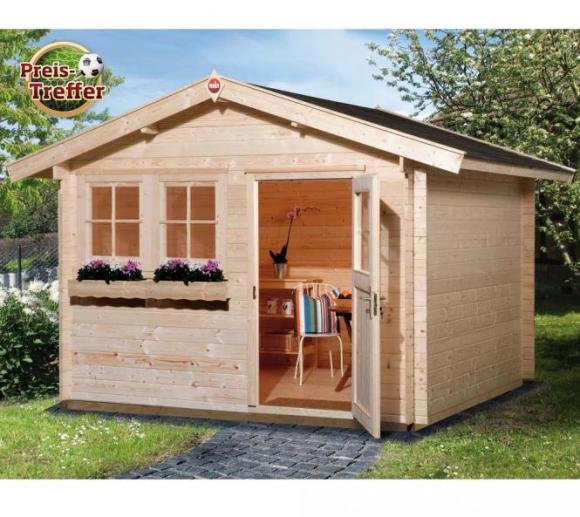Weka Gartenhaus 139 Premium natur, 45mm, 380x280 cm