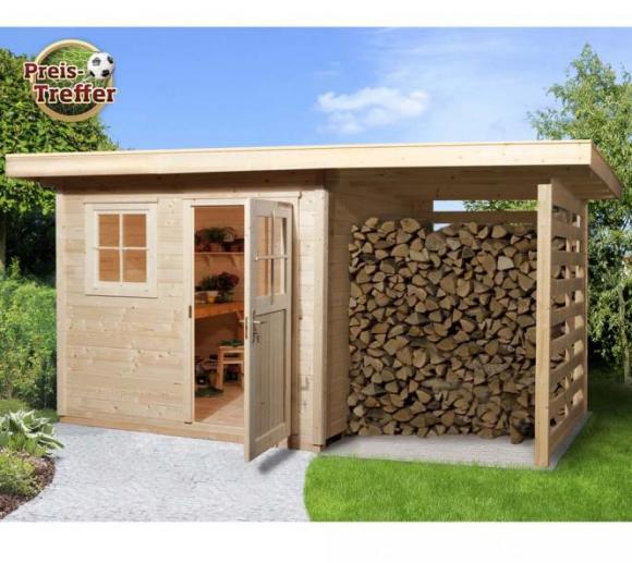 Weka Gartenhaus 170A natur, 28mm, 430x280 cm