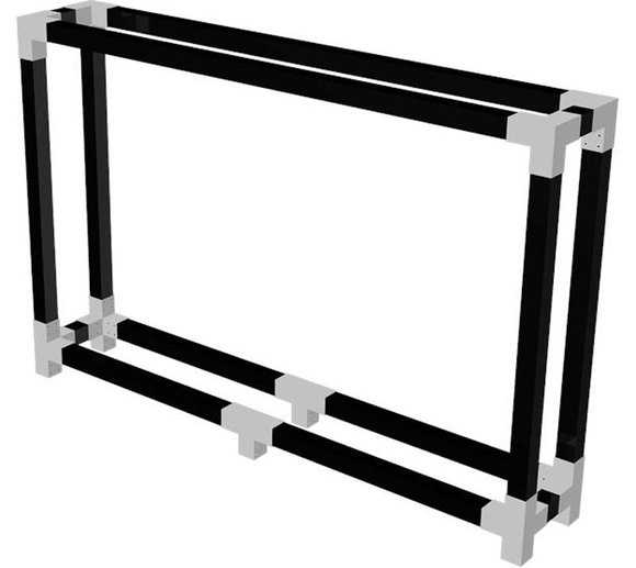 Plus Kaminholzregal Brennholzwand 286 cm schwarz
