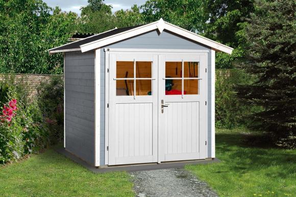 Weka Gartenhaus 224 grau, 21mm, 205x209 cm