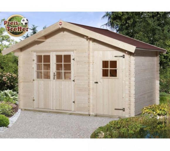 Weka Gartenhaus 253 natur, 28mm, 420x260 cm