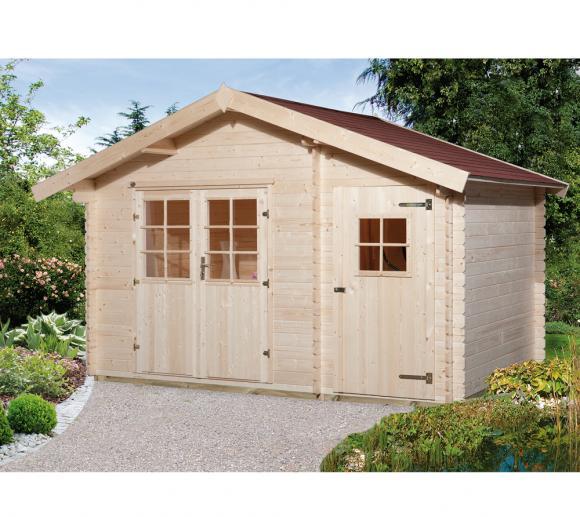 Weka Gartenhaus 253 natur, 28mm, 420x310 cm