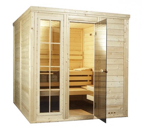 Interline Sauna Salla 4 (208x208x209 cm, 3 Liegen)