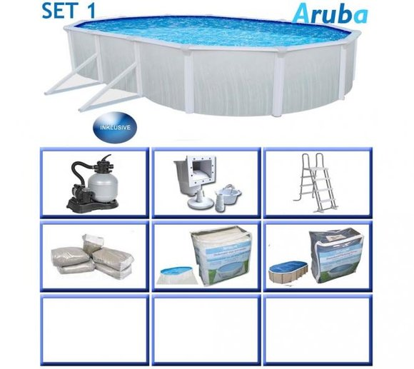 Interline Schwimmbad Aruba Sommerset 610x360 cm 6tl.