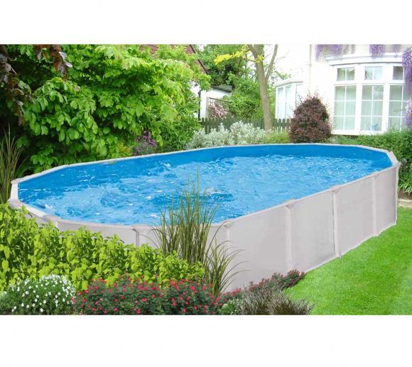 Interline Schwimmbad Pool u. Schwimmbecken Aruba 610x360 cm inkl. 5 teiliges Zubehörpaket und Winterabdeckung