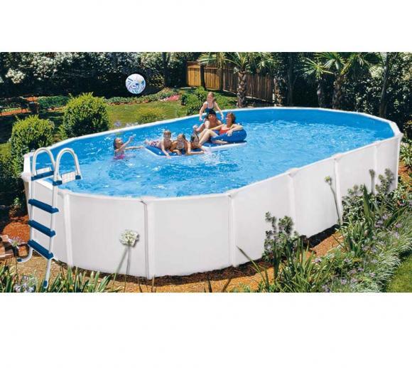 Interline Schwimmbad Pool u. Schwimmbecken Aruba 490x360 cm inkl. Winterabdeckung