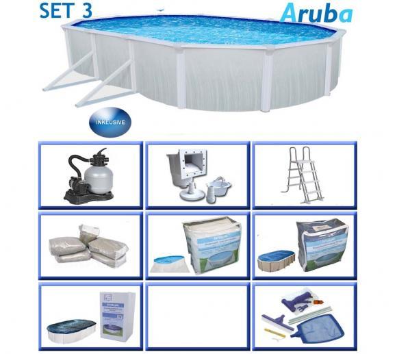 Interline Schwimmbad Aruba Premium-Set 490x360 cm 8tl.