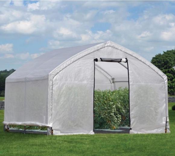 ShelterLogic Foliengewächshaus mit extra schnellem Aufbau, 11,1m², 370x300 cm