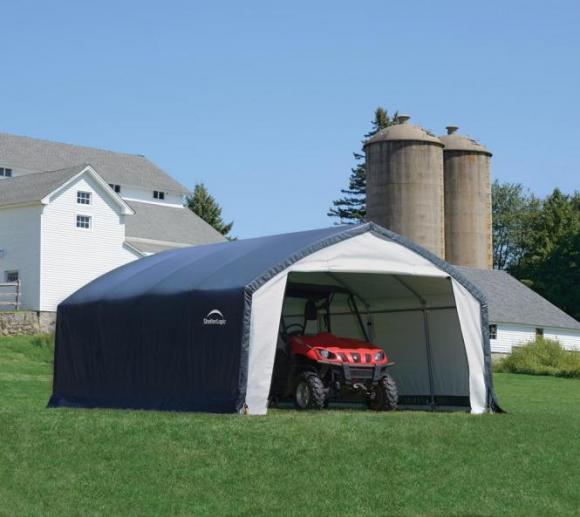 ShelterLogic Foliengerätehaus mit extra schnellem Aufbau, 22,57m², 370x610 cm