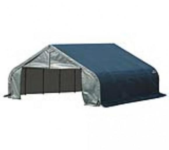 ShelterLogic Foliengarage, Folienscheune, Lagerzelt 33,55 m², 550x610 cm