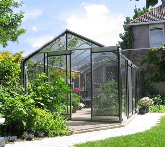 ACD Aluminium Glas Gewächshaus R309H-B RAL