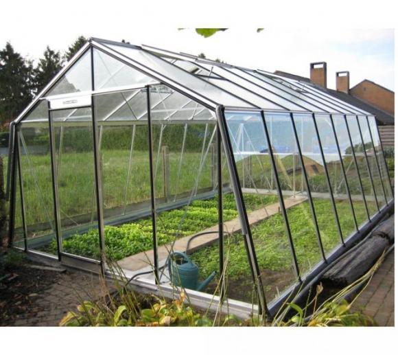 ACD Aluminium Glas Gewächshaus S208H-B, 22,53m²