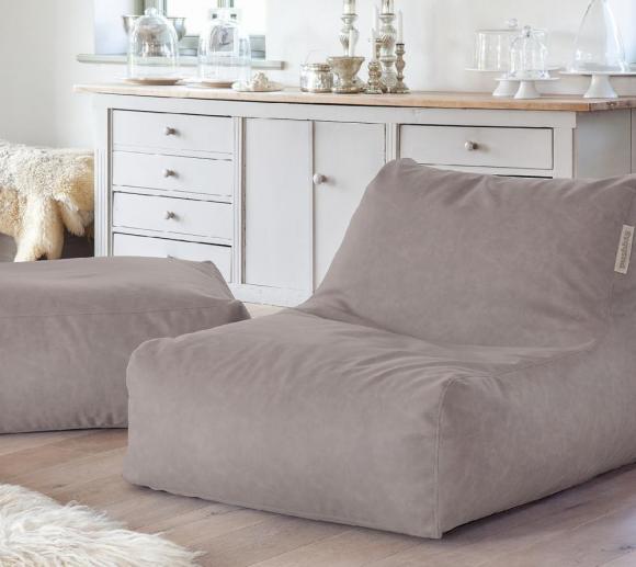 Pushbag Sitzsack, Sitzkissen, Sitzliege Set Chair/Easy AFL taupe