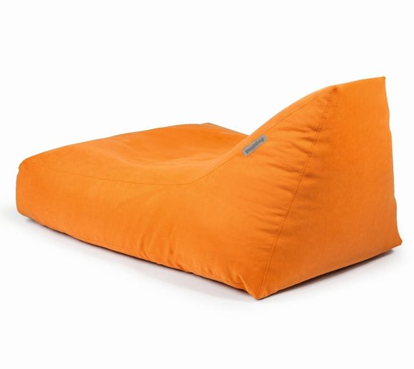 Pushbag Sitzsack, Sitzkissen, Liege Angel Soft Orange
