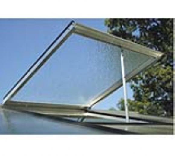 ACD Dachfenster für Gewächshäuser und Gerätehäuser silber