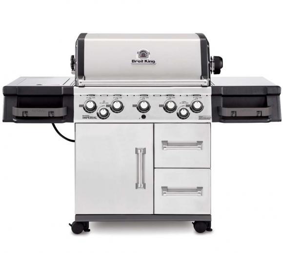 Premium Gasgrill Broil King Imperial 590 Pro inkl. Kochplatte & Spießbratenbrenner