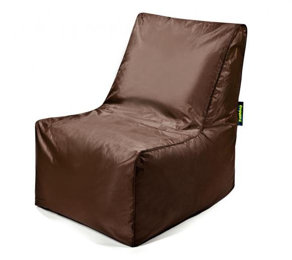 Pushbag Sitzsack, Sitzkissen, Sitzstuhl Block Oxford braun