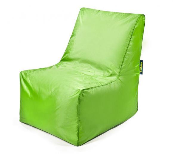 Pushbag Sitzsack, Sitzkissen, Sitzstuhl Block Oxford lime