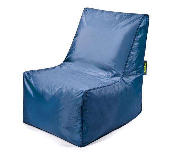 Pushbag Sitzsack, Sitzkissen, Sitzstuhl Block Oxford marina blau