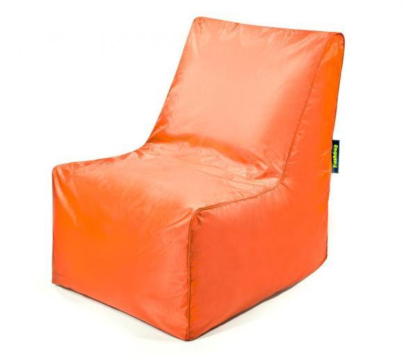 Pushbag Sitzsack, Sitzkissen, Sitzstuhl Block Oxford orange