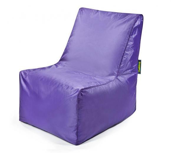 Pushbag Sitzsack, Sitzkissen, Sitzstuhl Block Oxford purple