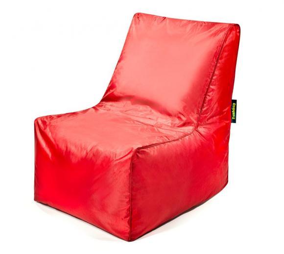 Pushbag Sitzsack, Sitzkissen, Sitzstuhl Block Oxford rot