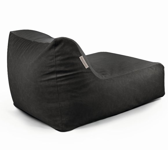 Pushbag Sitzsack, Sitzkissen, Liege Chair Mix Anthrazit