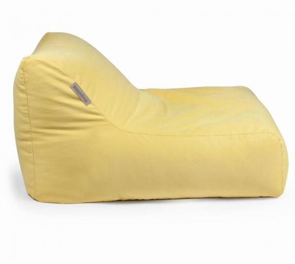 Pushbag Sitzsack, Sitzkissen, Liege Chair Soft Honig Gelb