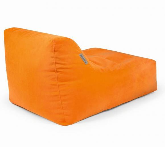 Pushbag Sitzsack, Sitzkissen, Liege Chair Soft Orange