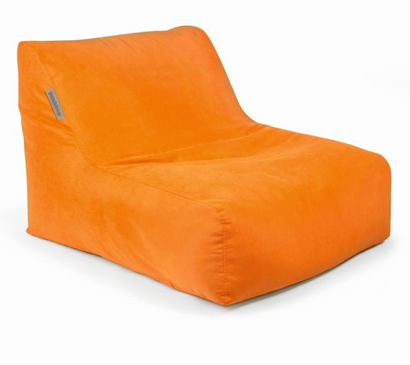 Pushbag Sitzsack, Sitzkissen, Liege Chair Soft orange