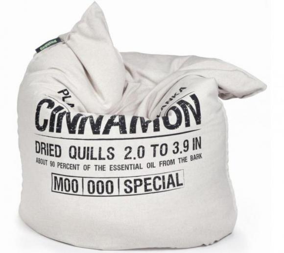Pushbag Sitzsack, Sitzkissen, Sitzmöbel Classic Canvas Cinnamon Bag