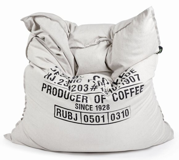 Pushbag Sitzsack, Sitzkissen, Sitzmöbel Classic Canvas Arabic Coffee Bag