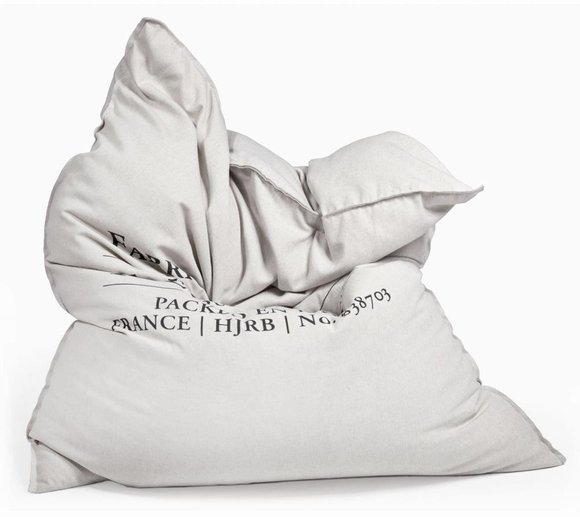 Pushbag Sitzsack, Sitzkissen, Sitzmöbel Classic Canvas Fleur de Sel Bag