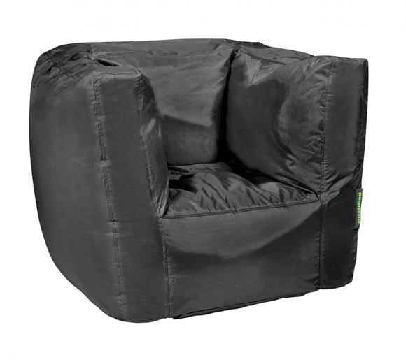 Pushbag Sitzsack, Sitzsessel Cube Oxford Schwarz