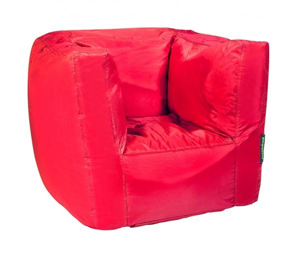 Pushbag Sitzsack, Sitzsessel Cube Oxford rot