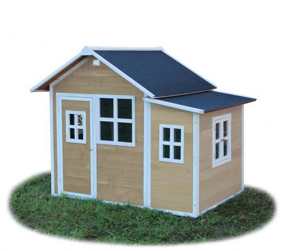 EXIT Kinderspielhaus Loft 150 Natur inkl. Anbau und Fenstern