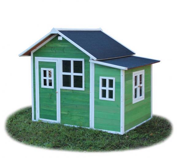 EXIT Kinderspielhaus Loft 150 Grün inkl. Anbau und Fenstern