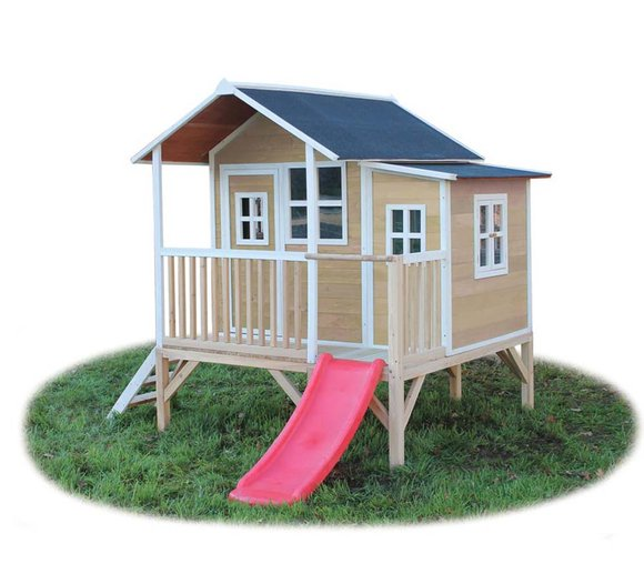 EXIT Kinderspielhaus Loft 350 Natur inkl. Anbau und Veranda