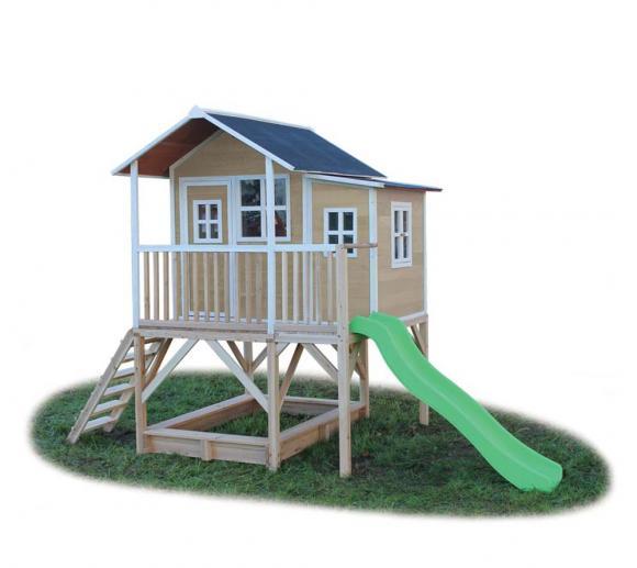 EXIT Kinderspielhaus Loft 550 Natur inkl. Anbau und Veranda