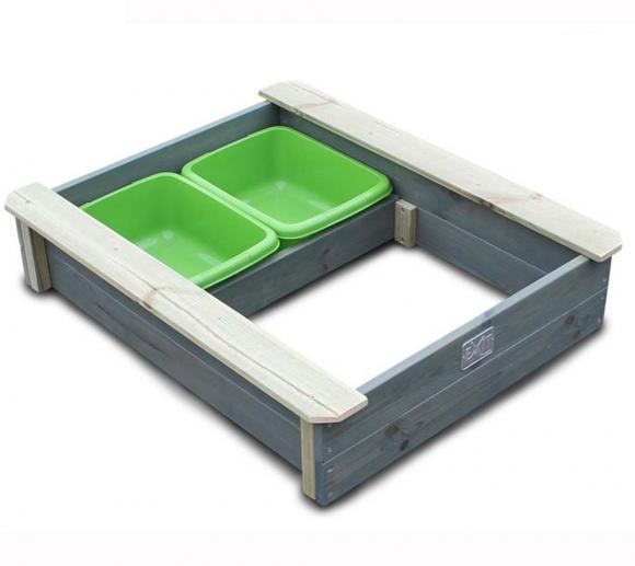 EXIT Aksent Sandkasten / Sandgrube inkl. Wannen und Holzabdeckung